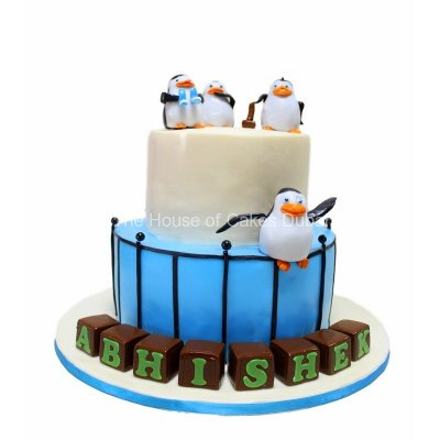Penguins cake 4