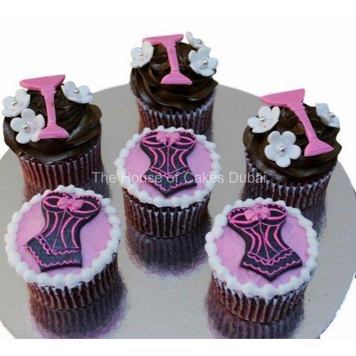 Corset and martini glass cupcakes