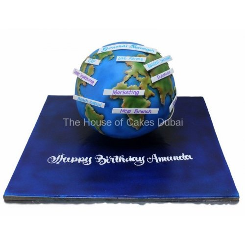 Globe cake 2