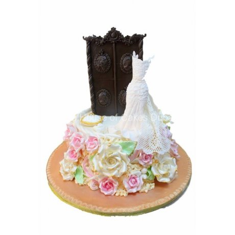 bridal dress cake 9 6