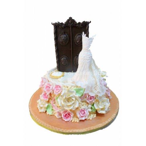 bridal dress cake 9 7