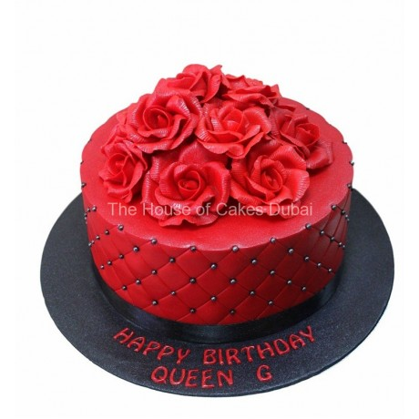 cake with red roses 3 7