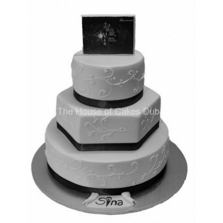 black and white cake sina 6