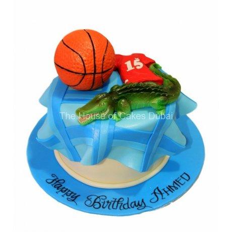 basketball and crocodile cake 6