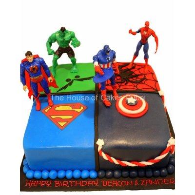 Superheroes avengers cake 22