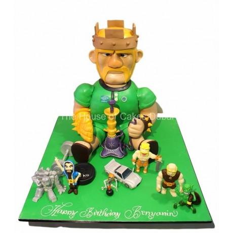 clash of clans 3d cake 6