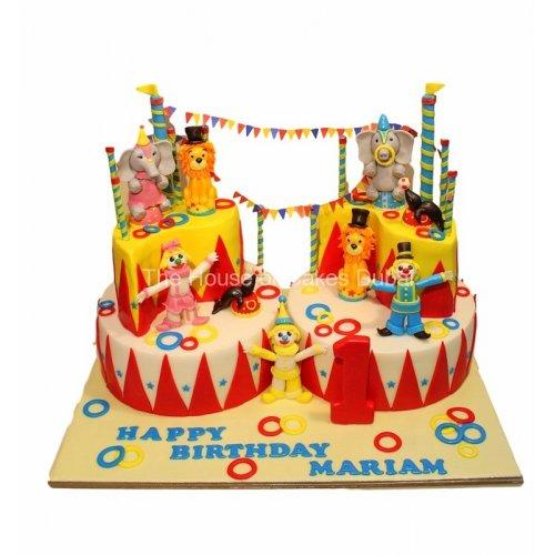 circus cake 5 7