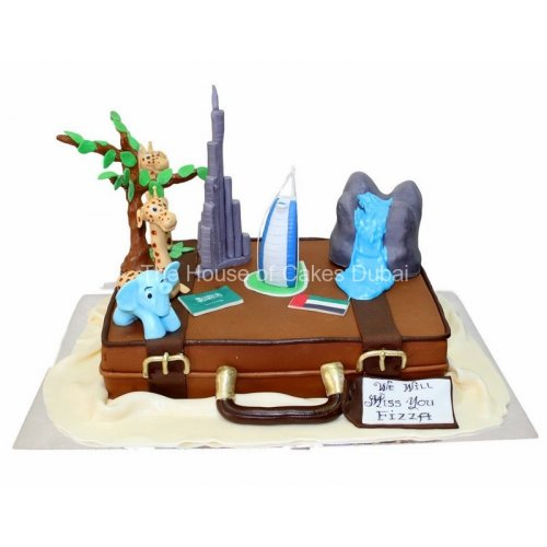 farewell suitcase cake 3 8
