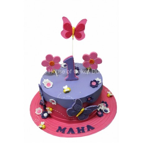 flowers and butterflies cake 4 7