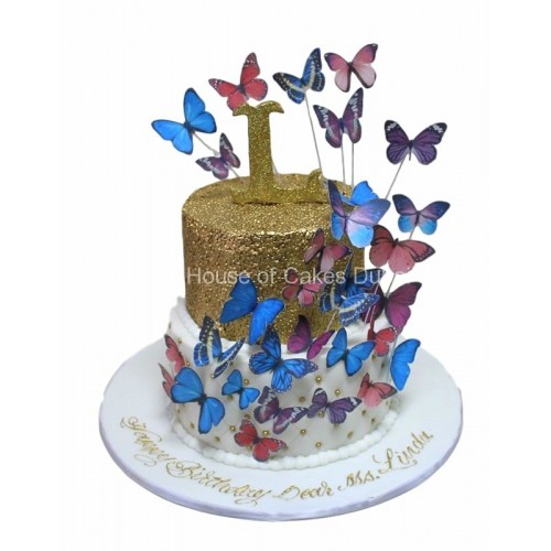 cake with butterflies 8 7