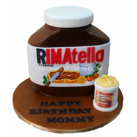 your name on nutella jar cake 6