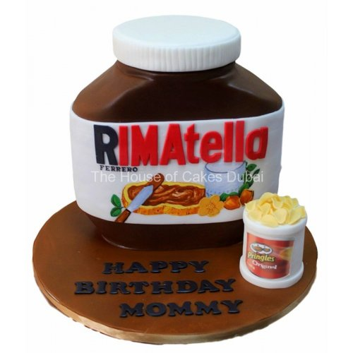 your name on nutella jar cake 7
