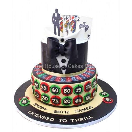 bond and casino theme cake 7