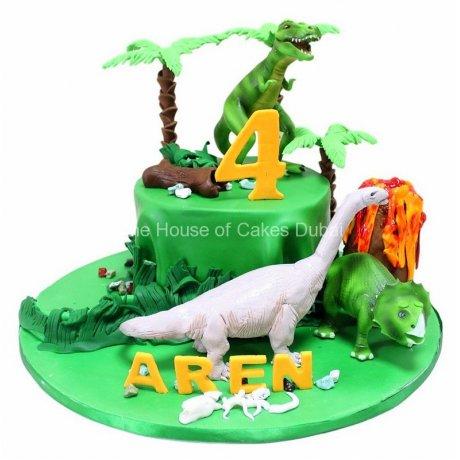 dinosaurs theme cake 3 7
