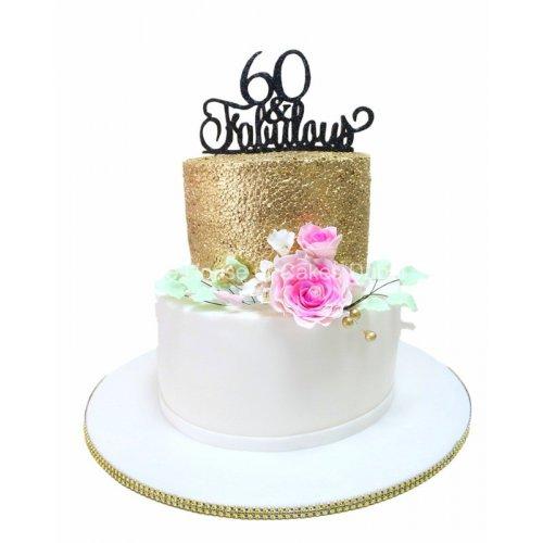 60 and fabulous cake