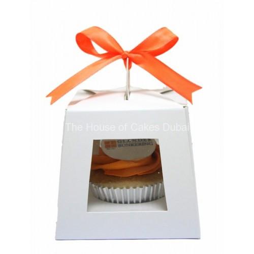 corporate cupcake in individual white box 8