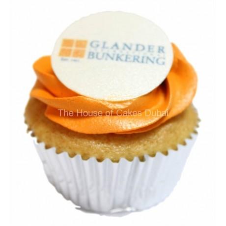 corporate cupcake in individual white box 7