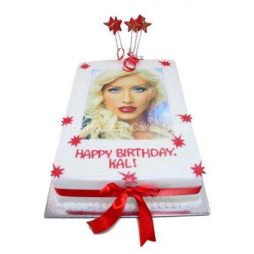 Christina Aguilera Cake with photo