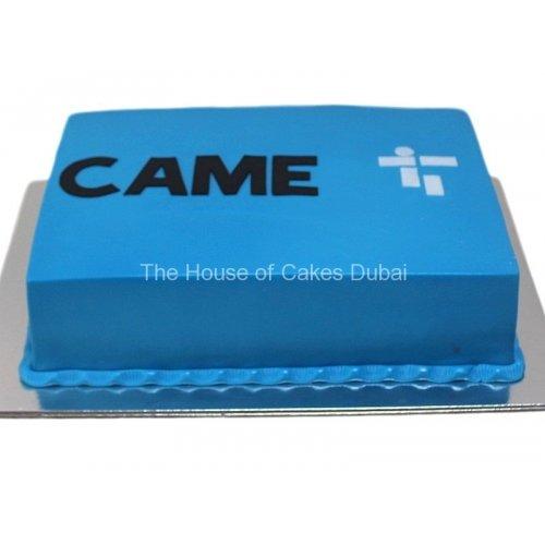 CAME logo cake