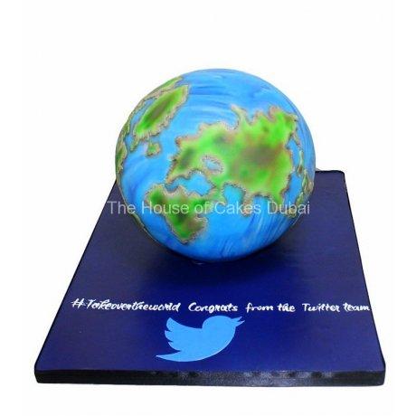 Globe earth cake 3