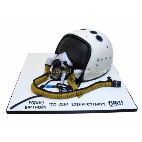 firefighter mask cake 7