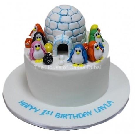 Penguin's house cake 2