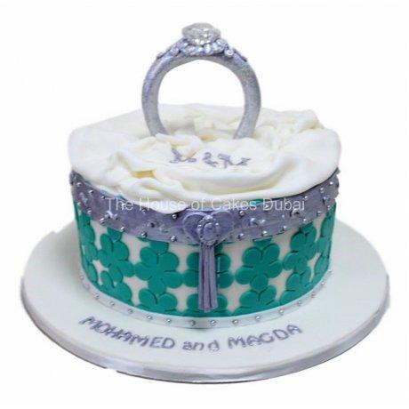 Engagement ring cake 10