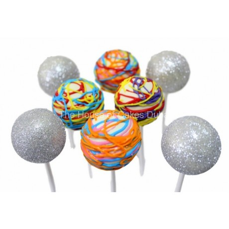 silver and colorful cake pops 6