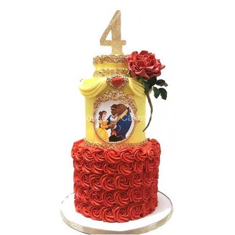 beauty and the beast cake 2 6