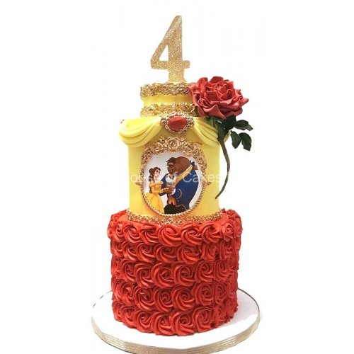 beauty and the beast cake 2 7