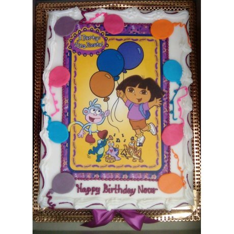 Dora The Explorer Cake with Photo 1