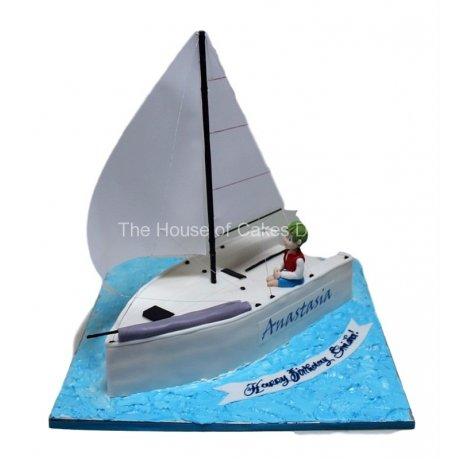 Sailing boat cake 3