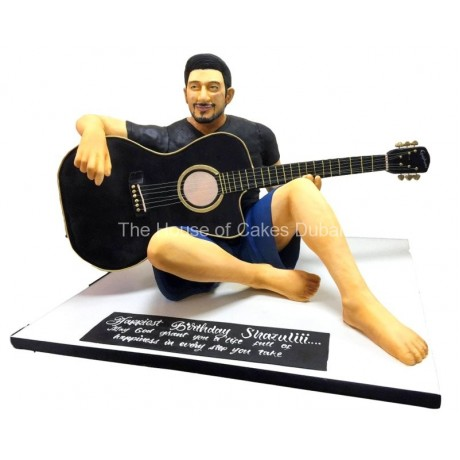 men playing guitar 3d cake 6