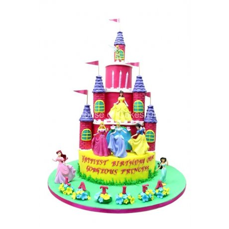 disney princesses castle cake 6 7