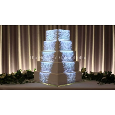 3D mapping on wedding cake