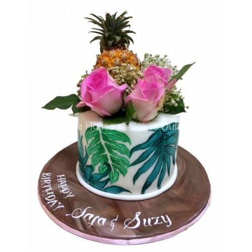 tropical hawaii theme cake 7