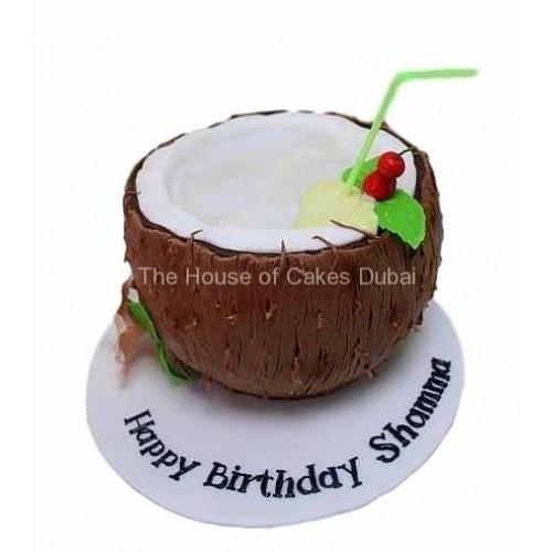 coconut shaped cake 7