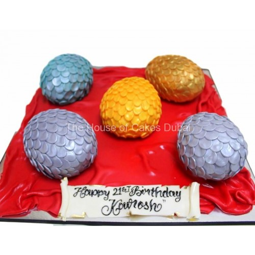 dragon eggs mini cakes from game of thrones 7