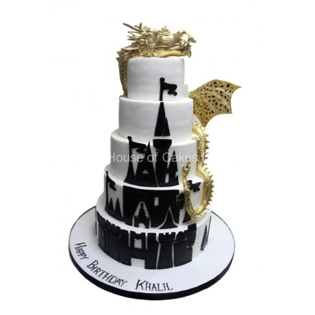 Dragon castle cake 2