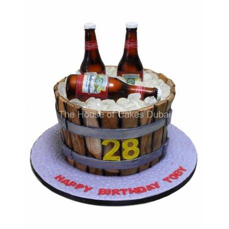 Budweiser beers cake