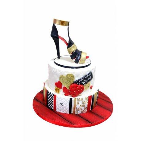 chanel shoe cake 6