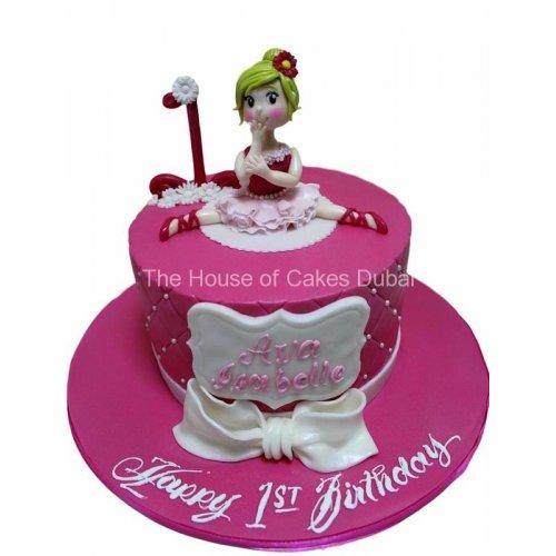 baby ballerina cake 8