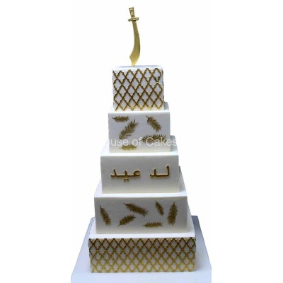 White and gold cake 4