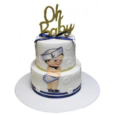 oh baby nautical cake 6