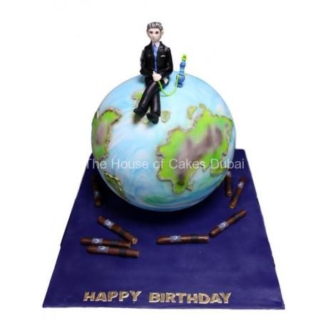 globe cake 4 6