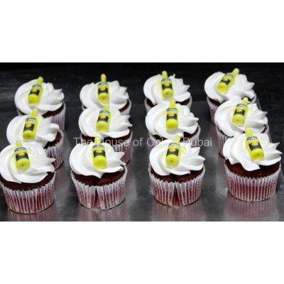Corona beer bottle cupcakes
