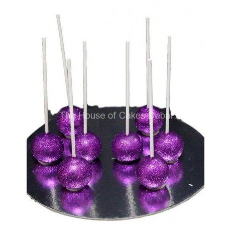 purple glitter cake pops 6
