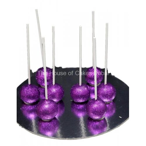 purple glitter cake pops 7