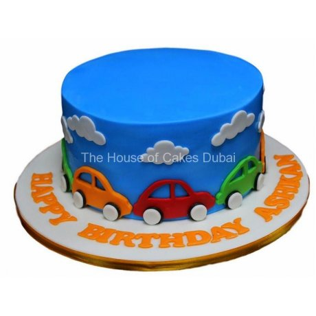 Cake with cars