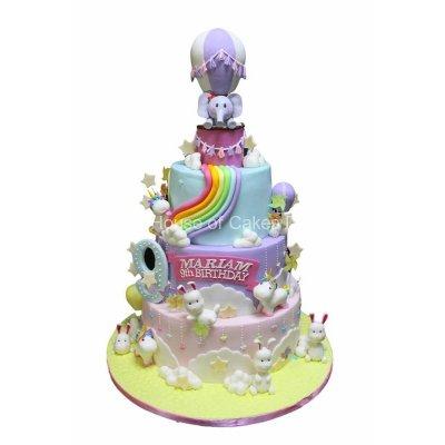 Unicorns, bunnies and elephant cake